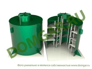 Пластиковый кессон - погреб пластиковый