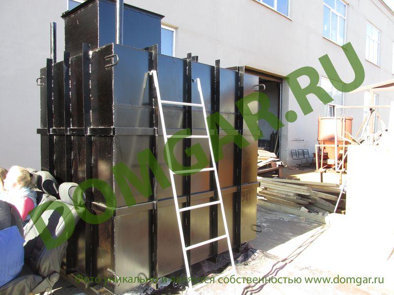 Погреб кессон металлический - изготовление и монтаж