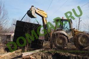 Зарывание металлического погреба кессона на участке