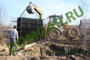 Доставка и монтаж металлического кессона (погреба)
