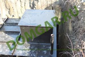 Погреб металлический установка