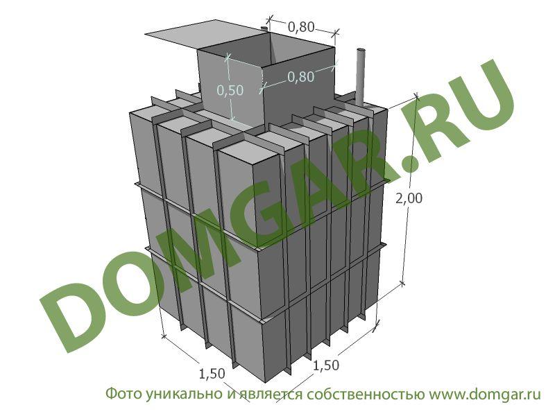 Кессон 1,5*1,5 м металлический